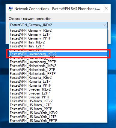 Windows IKEv2 Protocol VPN