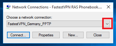 Choose a network connection