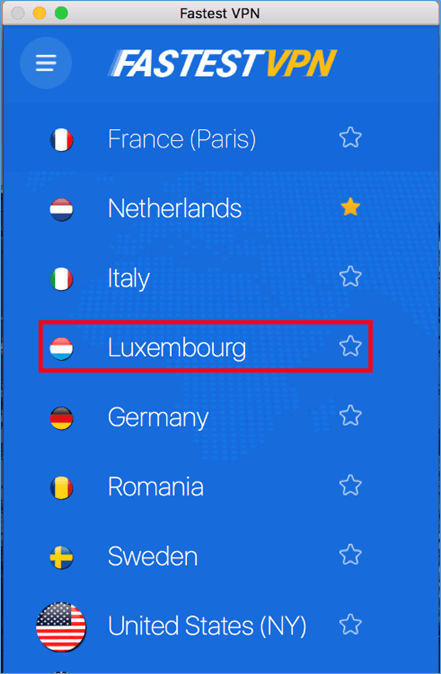 Select Location or Country