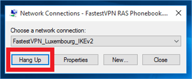 Disconnect IKEv2 Protocol in Windows