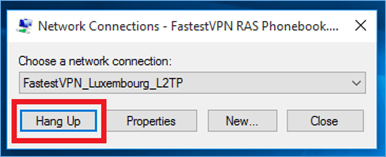 Disconnect FastestVPN L2TP in Windows