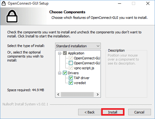 Install OpenConnect Gui Drivers
