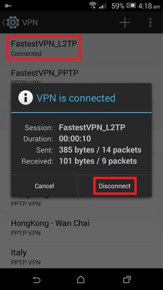 How to Disconnect L2TP Protocol