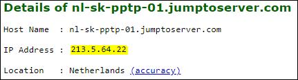 Convert server address in IP Address