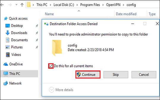 paste tcp/udp config files
