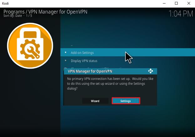 How to Setup VPN on OpenELEC Kodi