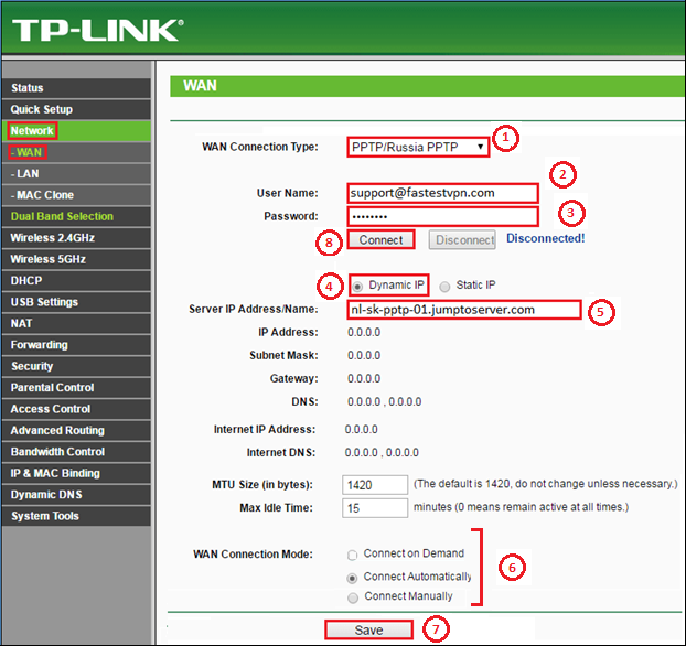 How to Setup FastestVPN on TPLink Router using PPTP Protocol