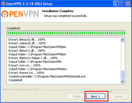 Windows XP OpenVPN