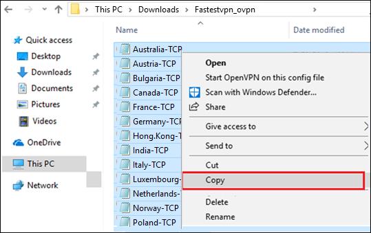 Copy tcp/ udp config files
