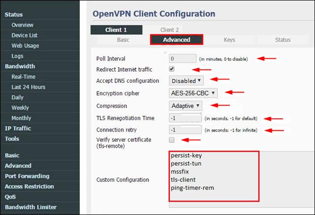 Tomato Router OpenVPN Setup