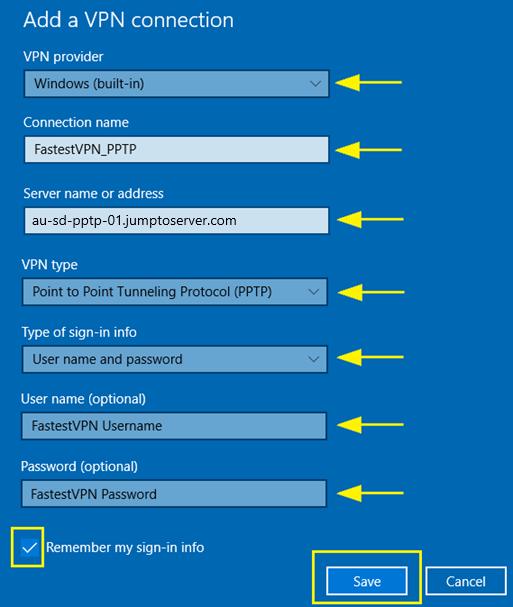 win10 pptp3 - Adding A Vpn To Windows 10